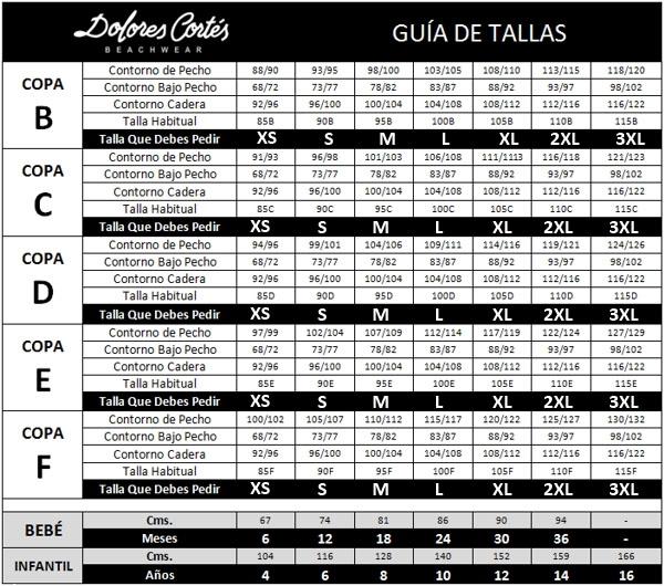 De Cortés Online Guía Dolores Tallas 0yNwv8PmnO